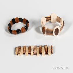Three Contemporary Inuit Bracelets