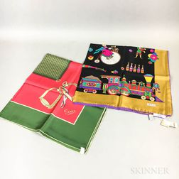 Two Gucci Silk Scarves