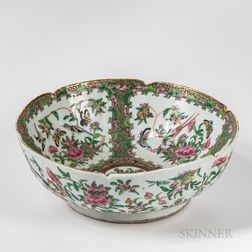 Export Porcelain Rose Mandarin Bowl
