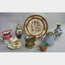Group of Assorted Decorated Ceramic Items and Tableware