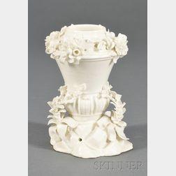 Mennecy White Glazed Porcelain Potpourri Jar