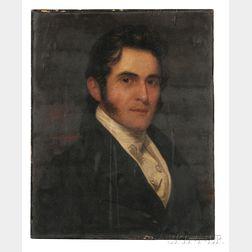 School of Gilbert Stuart (American, 1755-1828)    Portrait of a Gentleman