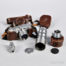 Leica IIIF with Three Nikon Lenses