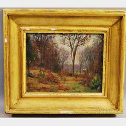Harold Crocker Dunbar (American, 1882-1953)      Autumn Landscape.