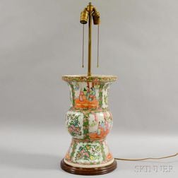 Rose Medallion Ku-form Export Porcelain Vase