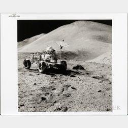 Apollo 15, Lunar Roving Vehicle, EVA-3, August 1971.