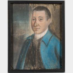 Benjamin Blyth (Massachusetts, 1746-1786), Portrait of a Man in a Blue Jacket, a Member of the Perkins Family, Newburyport, Massachuset