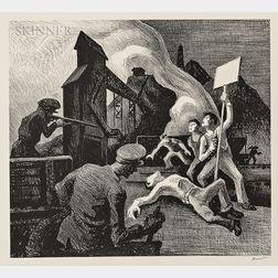 Thomas Hart Benton (American, 1889-1975)      Strike