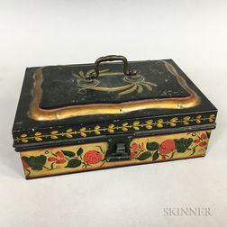 Handled Tole Document Box