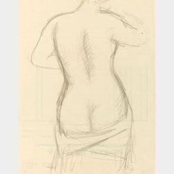 Aristide Maillol (French, 1861-1944)  Une Femme Debout de Dos a la Draperie