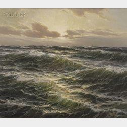 Walter Dettman (German, 1914-1984)      Seascape