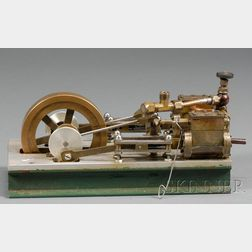Working Model of a Two Cylinder Horizontal Steam Engine