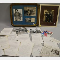 Collection of James Cagney Memorabilia and Eleven 1970-1978 Typed Letters
