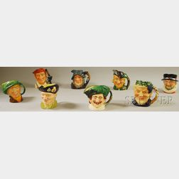 Eight Assorted Royal Doulton Ceramic Character Jugs