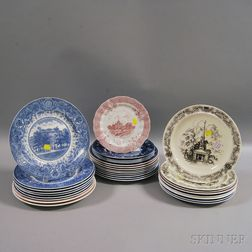 Thirty-one Wedgwood Transfer-decorated Collectible Plates