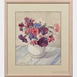 Julius Delbos (American, 1879-1970)      Vase of Flower