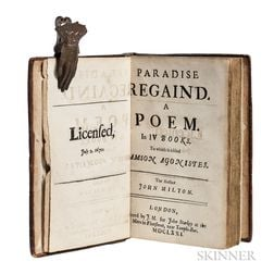 Milton, John (1608-1674) Paradise Regain'd. A Poem in IV Books. To which is added Samson Agonistes.