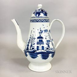 Staffordshire Chinoiserie-decorated Pearlware Coffeepot