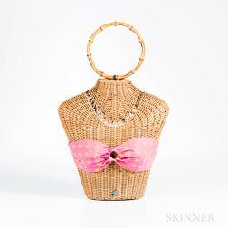 Rattan Bikini Handbag