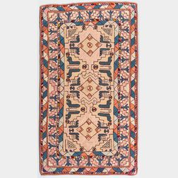 Hooked Rug with Caucasian Design