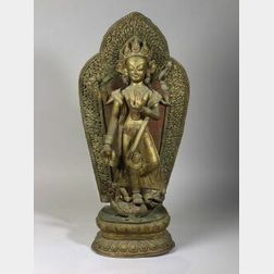 Repousse Image of Tara