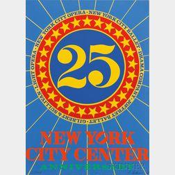 Robert Indiana (American, b. 1928)      25 New York City Center - Anniversary