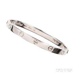 """18kt White Gold """"Love"""" Bracelet, Aldo Cipullo, Cartier"""