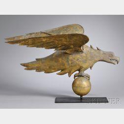 Gilt Copper Eagle Weather Vane