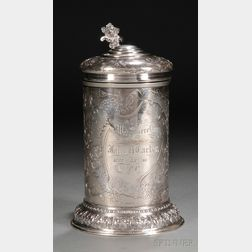 Gorham Sterling Silver Tankard-form Trophy