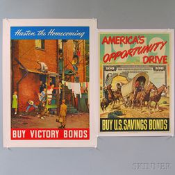 Two U.S. WWII Era Lithograph Posters