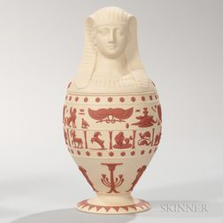 Modern Wedgwood Primrose Jasper Canopic Jar