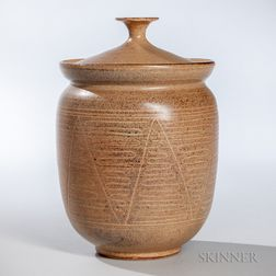 Edwin and Mary Scheier Decorated Covered Jar