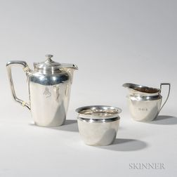 Assembled Three-piece Tiffany & Co. Sterling Silver Coffee Service