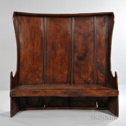 English or Welsh Elm Settle