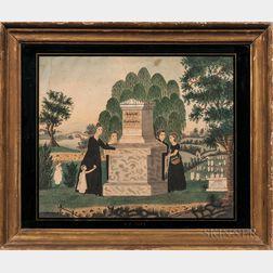 Watercolor Memorial Picture for Captain Joseph Dike