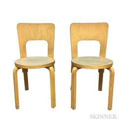 Two Alvar Aalto Model 91 Side Chairs