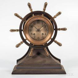 "Chelsea ""Mariner"" Yacht Wheel Ship's Bell Clock"