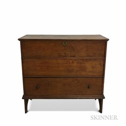 Early Pine One-drawer Blanket Chest
