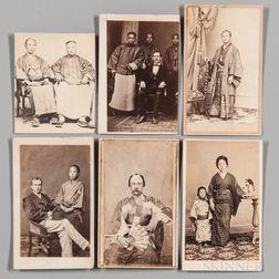 Van Reed, Eugene (1835-1873) and Yabe Kisaboro (b. circa 1845) Seven Carte-de-visites.