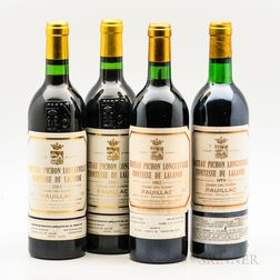 Chateau Pichon Lalande  1979 (1 bt) u: very top shoulder, light fading and slight tear to capsule,...