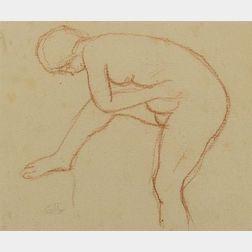 Aristide Maillol (French, 1861-1944)  Femme a la Toilette