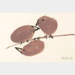 Juliet Kepes (American, 1919-1979)      Three Birds