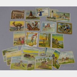Thirty-five Assorted Hassan, Turkish Trophies, and Between the Acts   Cigarettes/Tobacco Series Cards
