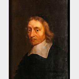 Attributed to Jan de Bray (Dutch, c. 1627-1697), Portrait of a Man in a Flat Linen Collar and Black Skull Cap, Possibly Salomon de Bray