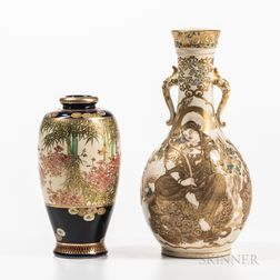 Two Satsuma Vases