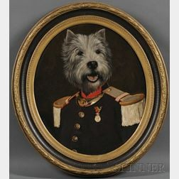 Thierry Poncelet  (Belgian, b. 1946)      Terrier in Military Ceremonial Dress