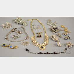 Small Group of Rhinestone and Paste Jewelry