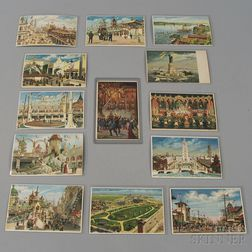Thirteen Early 20th Century Die-cut Hold-to-Light New York and Coney Island   Postcards