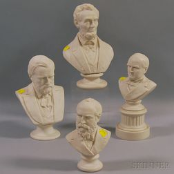 Four Parian Busts