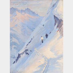 Albert Sheldon Pennoyer (American, 1888-1957)      Untitled (Ski Scene #1)